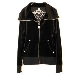 Michael Kors Black Velour Jacket Size Large